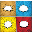 comic colorful abstract templates collection vector image vector image