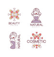 creative geometric logos for beauty salon or vector image vector image