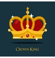 crown king or queen princess icon vector image vector image