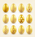 easter golden egg traditional spring holidays in vector image vector image