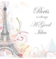 Eiffel tower romantic background