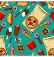 Fast food retro seamless pattern vector image vector image