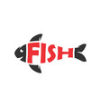 fish lovers logo design vector image