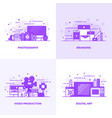 flat line purple designed concepts 3 vector image vector image