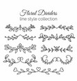 Flourishes hand drawn dividers set line style