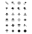 Flowers and Floral Icons 4 vector image