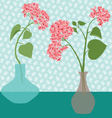 flowers in vases vector image vector image