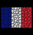 france flag collage of fist icons vector image