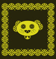 funny lemon character vector image