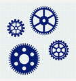 gears icon on lined paper background vector image