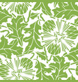 greenery dandelion seamless pattern background vector image vector image