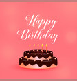 happy birthday celebration cake with candles vector image vector image