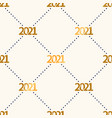 happy new year 2021 seamless pattern with polka vector image vector image