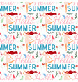 hello summer female cartoon seamless flat pattern vector image vector image