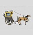 horse-drawn carriage or coach travel vector image vector image
