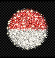 indonesia and monaco flag sparkling badge vector image