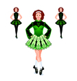 Irish dancers trio vector image