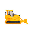 isolated bulldozer icon flat cartoon style vector image vector image