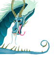 Isolated dragon with open mouth and tail vector image vector image