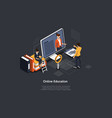 isometric cartoon 3d style vector image vector image