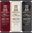 labels for wine with a wine press and grapes vector image