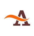 letter a concept logo icon design vector image vector image