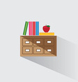 library catalog of books vector image vector image