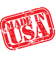 Made in the USA stamp vector image