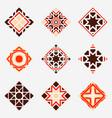 mosaic rhomb emblems set vector image vector image