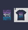 new york city t-shirt geometric design vector image vector image