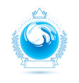 ocean freshness theme symbol for use in spa and vector image vector image