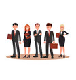 office staff flat design vector image vector image