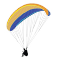 paragliding vector image vector image