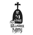 Party Halloween Poster logos vector image