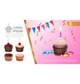 realistic sweet birthday concept vector image vector image