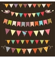 Retro bunting and garland set vector image vector image