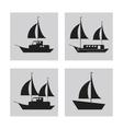 sailboat ship sea design vector image