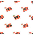 seamless pattern with london double-decker buses vector image