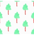Seamless pattern with trees Hand-drawn background vector image vector image