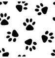 seamless paw background vector image