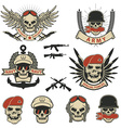Set of special forces labels vector image vector image