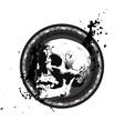Sketchy Skull Emblem vector image vector image
