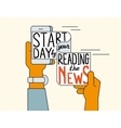 start your day reading news vector image vector image