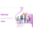 startup conference with new ideas announcement vector image vector image