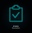 survey - pixel icon on black vector image vector image