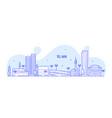 tel aviv skyline israel city buildings line vector image vector image
