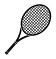 Tennis racket icon simple style vector image vector image
