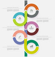 time line design can be used for diagram vector image vector image