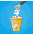 trash recycle bin garbage vector image vector image