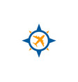 travel compass logo icon design vector image